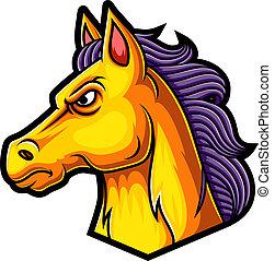 Horse mascot logo design