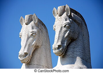 horse monument in CCB