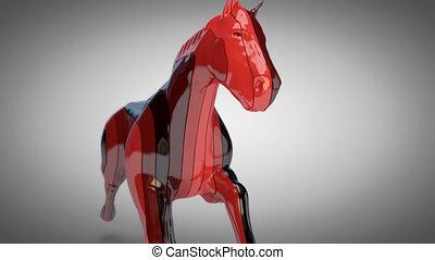 Horse motion design - 3D Animation