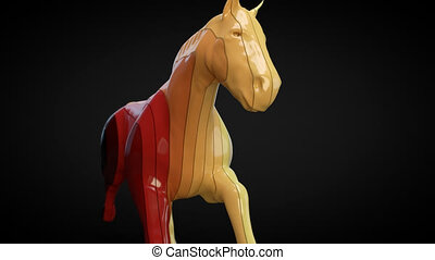Horse motion design - 3D Animation