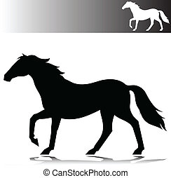horse move vector silhouettes