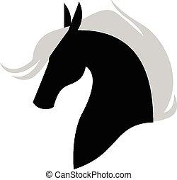 Horse muzzle profile