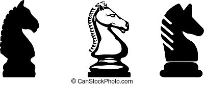 horse of chess icon on white background