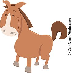 horse or pony cartoon animal