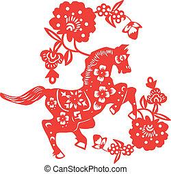horse paper cut