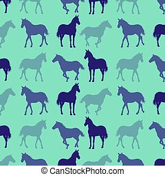 Horse pattern abstract vector background