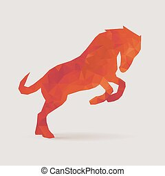 horse polygon silhouette