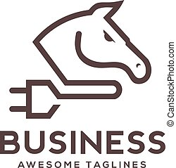 horse power logo vector