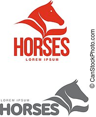 Horse profile graphic logo template