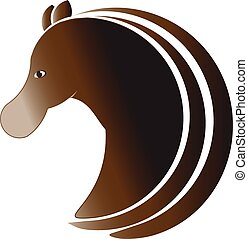 Horse profile logo