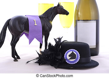 Horse Race Day Ladies Luncheon table setting. - Horse racing...
