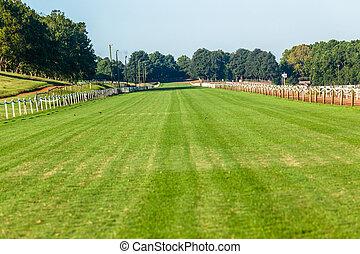 Horse Race Grass Training Track Landscape