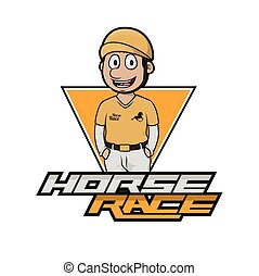 horse race logo illustration design