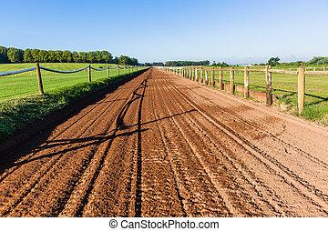Horse Race Sand Training Track Landscape