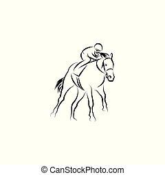 Horse race vector illustration