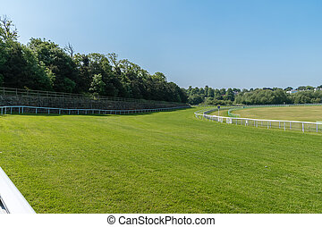 Horse racetrack sections