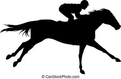 Horse racing - Abstract vector illustration of horce and...