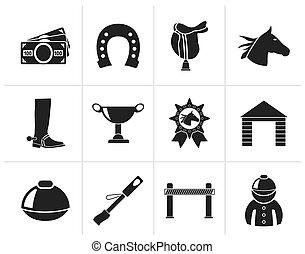 Horse Racing and gambling Icons