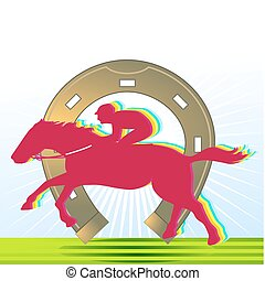 horse-racing and horseshoe