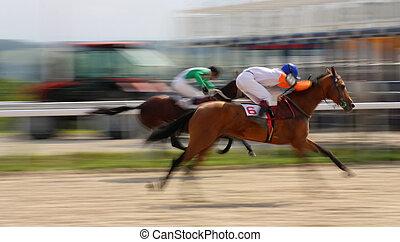Horse race for the prize of Omara Iskandarova. Pyatigorsk, Caucasus, Russia.
