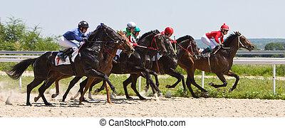 Horse racing in Pyatigorsk, Caucasus