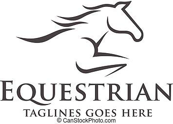 Horse racing logo template