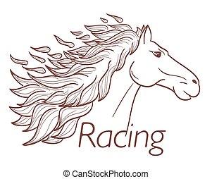 horse racing symbol