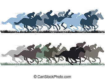 Horse Racing Illustrations And Clip Art 10492 Royalty