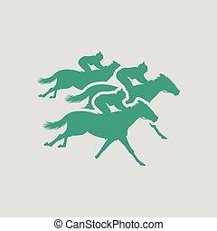 Horse ride icon