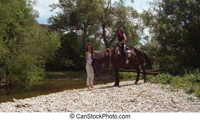 Horse ride walk