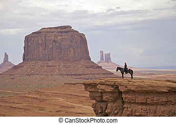 Horse Rider and Monument Valley