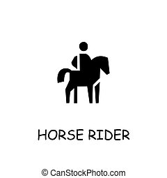Horse rider flat vector icon