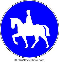 Horse riders allowed road sign