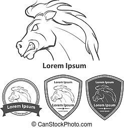 horse run power logo elements