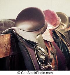 horse saddle - Vintage Classic Riding Saddle background