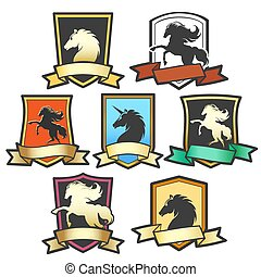 Horse Shield Emblem Set