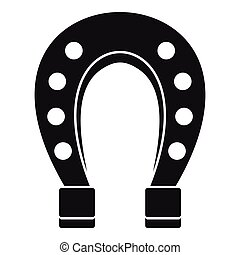 Horse shoe icon, simple style