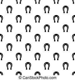 Horse shoe pattern vector