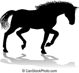 Horse Silhouette Animal - A horse animal detailed silhouette...