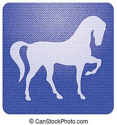 Horse silhouette icon