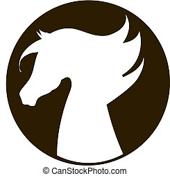 horse  silhouette icon vector illustration