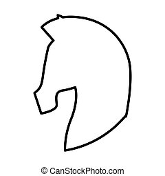 horse silhouette isolated icon
