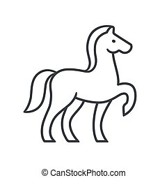 Horse silhouette outline