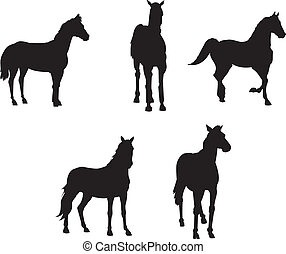 Horse Silhouette Vector Clipart