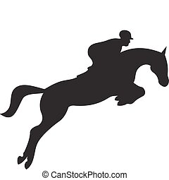 horse silhouette isolated on white background. Vector illustration