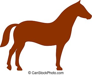 Horse silhouette vector icon isolated on white background