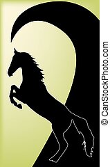 Horse silhouette vector illustration