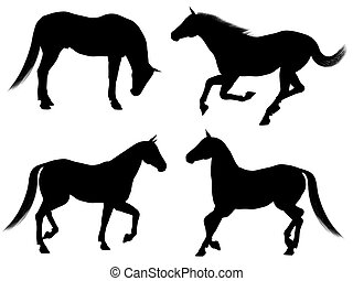 Horse Silhouettes - 1