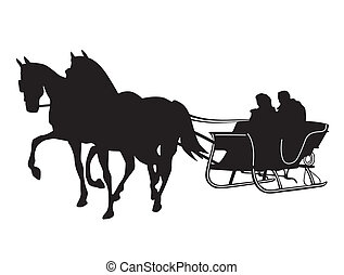 Horse Sleigh Illustrations And Clip Art 349 Horse Sleigh Royalty