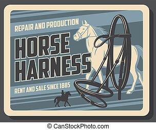 Horse sport, horserace equipment shop